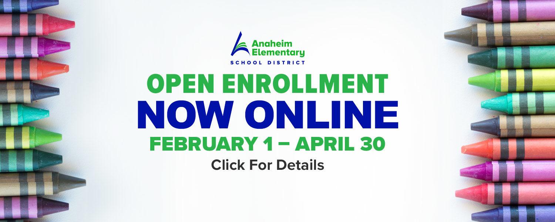 Open Enrollment NOW ONLINE February 1 - April 30. Click For Details